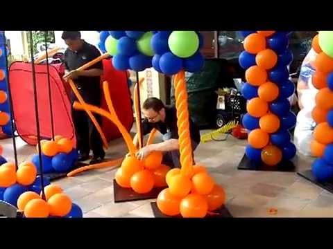 How To Make A Spiral Column Balloon Artist San Diego