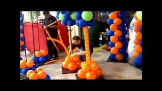How to Make a Spiral Column- Balloon Artist San Diego Series