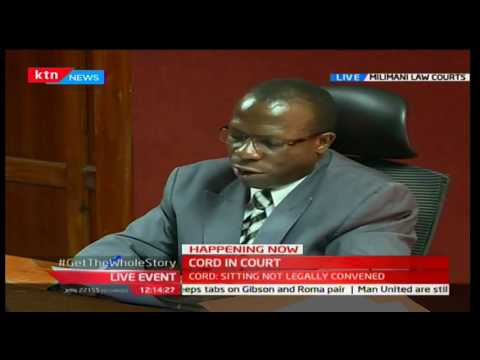 Judge George Odunga gives his ruling to the election amendment 22/12/2016