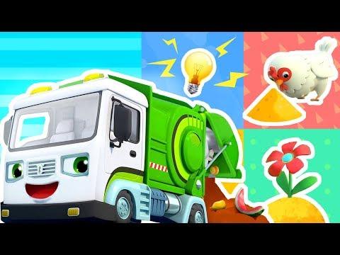 廚余垃圾變成什麼?| 最新怪獸車兒歌童謠 | 好習慣卡通動畫 | 寶寶巴士 | 奇奇 | Learn Chinese | BabyBus