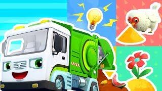 廚余垃圾變成什麼?| 最新怪獸車兒歌童謠 | 好習慣卡通動畫 | 寶寶巴士 | 奇奇 | BabyBus