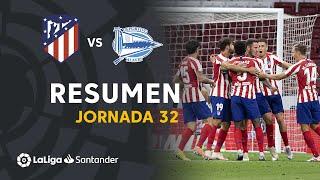 Resumen de Atlético de Madrid vs Deportivo Alavés (2-1)
