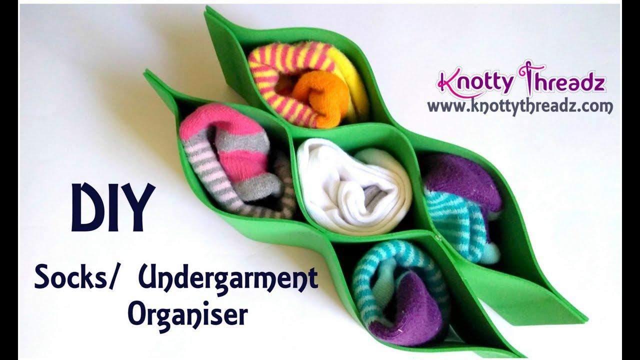 how to make a socks organiser
