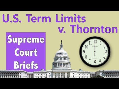 Can Congress Have Term Limits? | U.S. Term Limits, Inc. v. Thornton