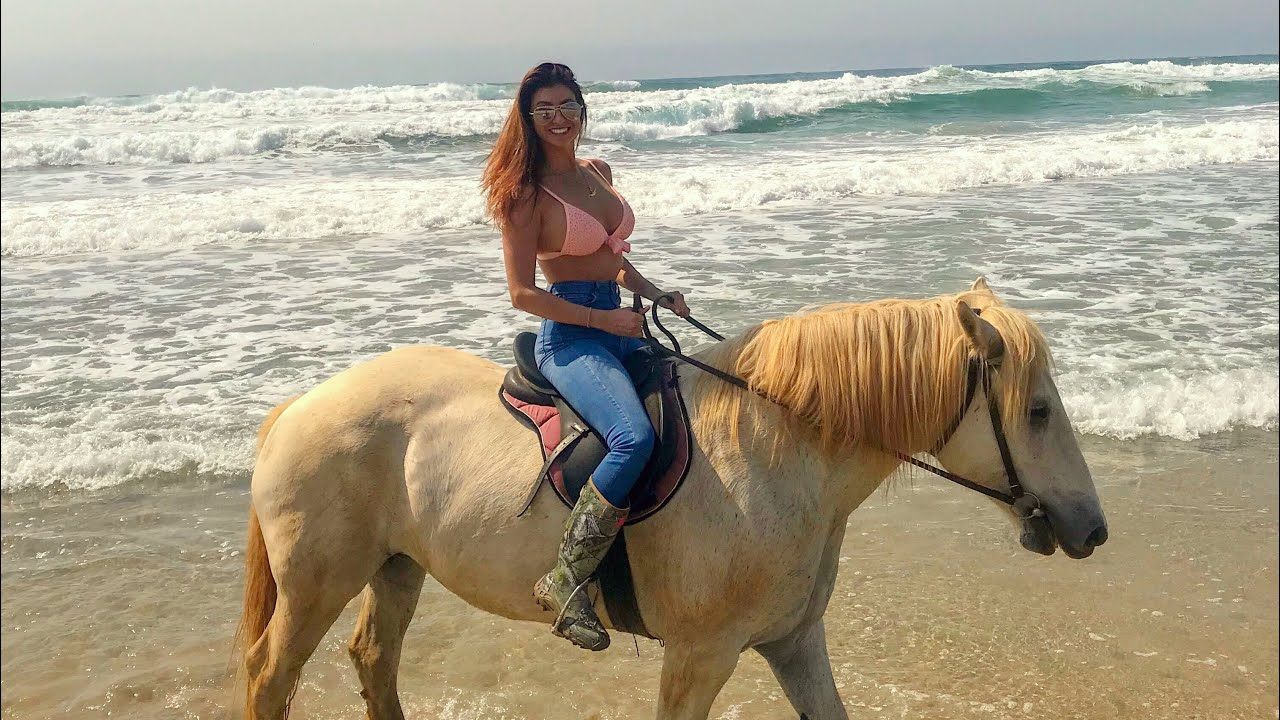 Horseback Riding On The Beach In South