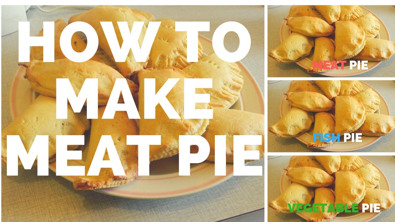 How to prepare meat pie fish veg pie as well youtube for How to make fish food