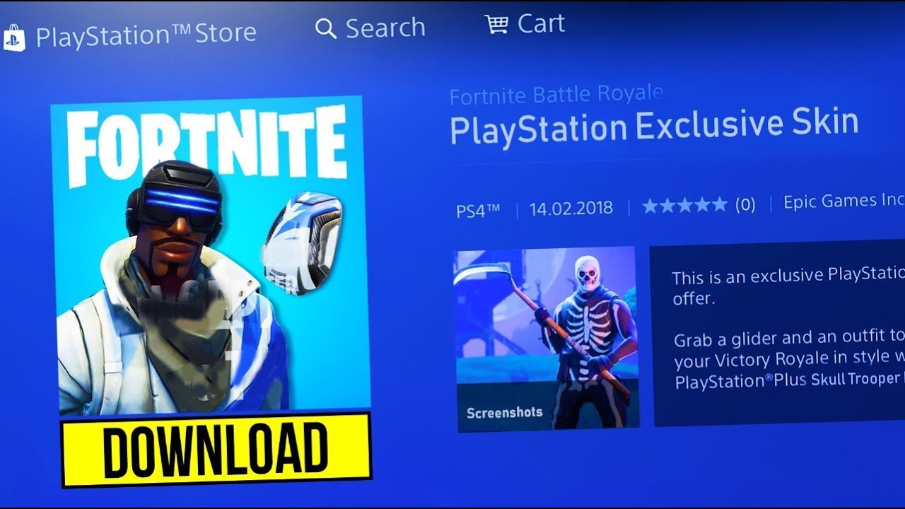 Playstation exclusive skin fortnite