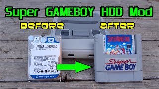 Super GAMEBOY HDD Mod for Roshambo Super Famicom Retro Gaming Cases-Pi 3, Rock64 & RockPro 64 SBC's