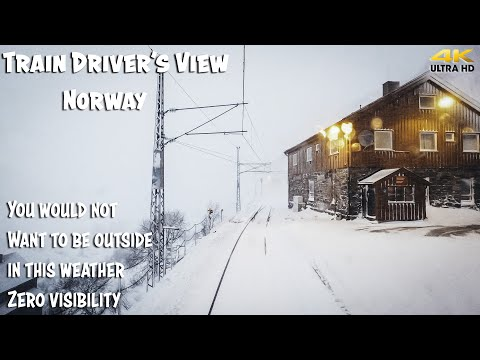 TRAIN DRIVER'S VIEW: Whiteout