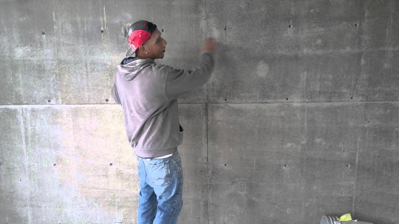Satin finish concrete grinding of walls youtube How to finish a concrete wall