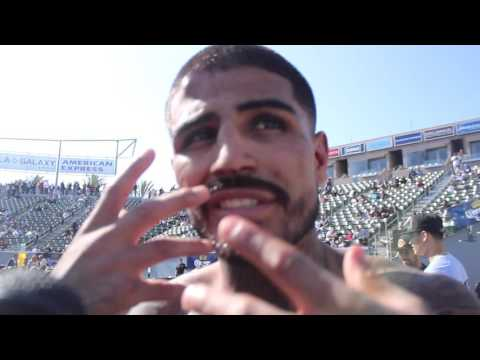 Speedy Mares shows love to LA fans who support him, talks about war at StubHub Center