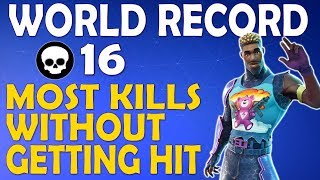 NEW WORLD RECORD - 16 KILLS IN A ROW WITHOUT GETTING HIT BY A PLAYER - (Fortnite Battle Royale)