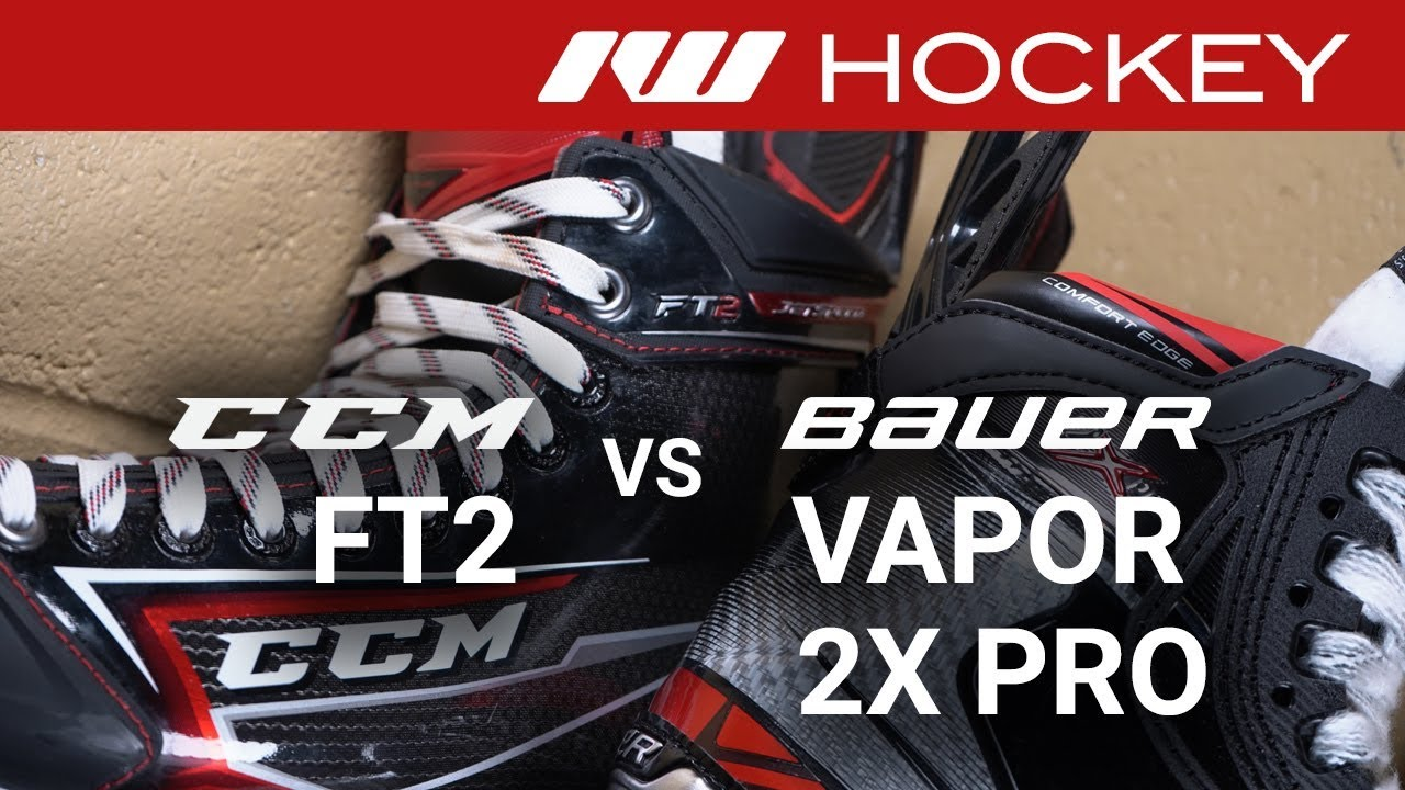Bauer Vapor 2X Pro vs CCM JetSpeed FT2 Skates // Tech & Spec Comparison
