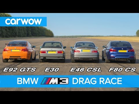 BMW M3 generations DRAG RACE, ROLLING RACE & review   carwow