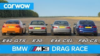 BMW M3 generations DRAG RACE, ROLLING RACE & review