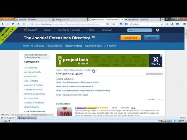 Joomla 3 - Compression des ressources du site