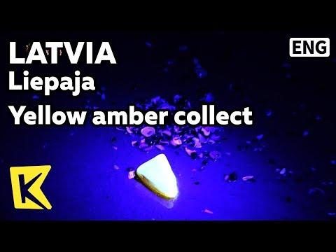 【K】Latvia Travel-Liepaja[라트비아 여행-리예파야]호박석 채취/Yellow amber/Collect/Jewelry/Collector