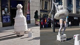 Street Performer Flashes Knickers At Passers-by