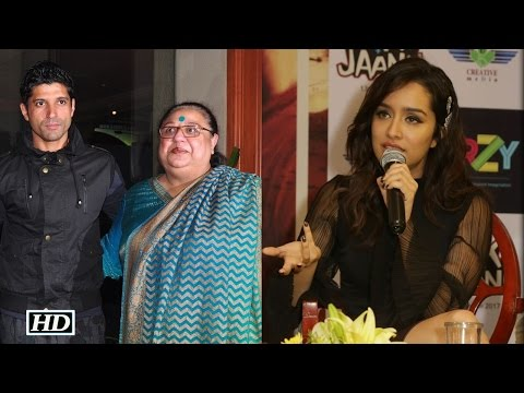 Shraddha Reacts on her alleged Rift with Farhan Akhtar's Mom