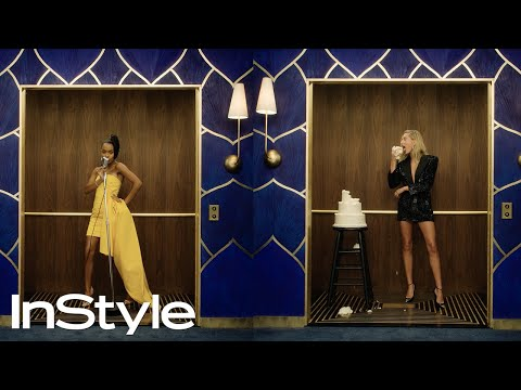 The Best Moments From The 2020 InStyle Golden Globes Elevator | InStyle