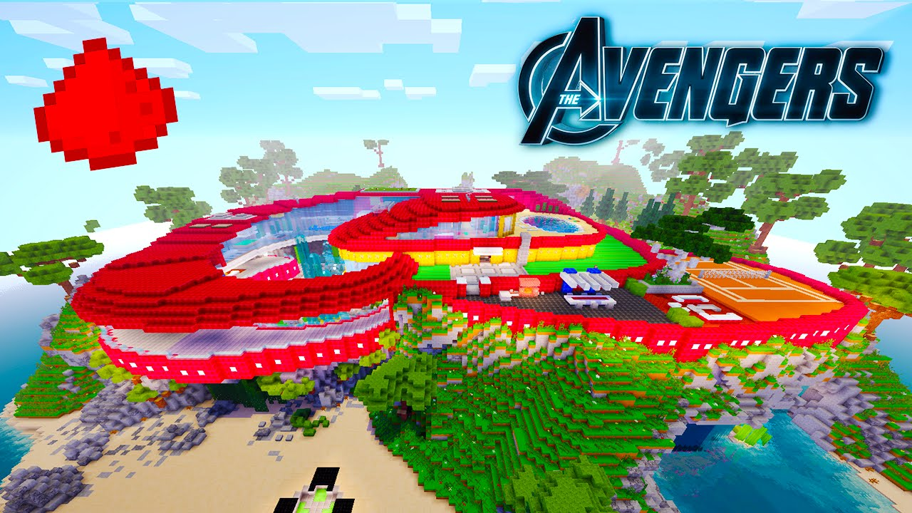 AVENGERS MANSION IN MINECRAFT W 40 Command Block Creations YouTube