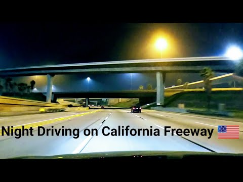 Dash Cam Tours 🚘 Night Freeway Driving | No music | No talking