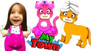 Домашние питомцы Салон красоты и магазин для животных в игре для детей My Town Pets KIDS CHILDREN