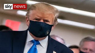 Coronavirus: Trump wears mask in public for first time amid surge in COVID-19 cases