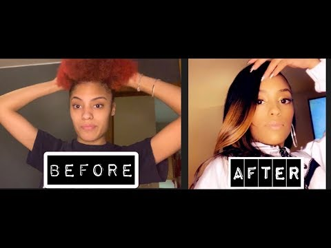 4A HAIR DYED RED TO BLACK + HAIR WEAVE SEW IN TUTORIAL//BIRTHDAY MAKE OVER