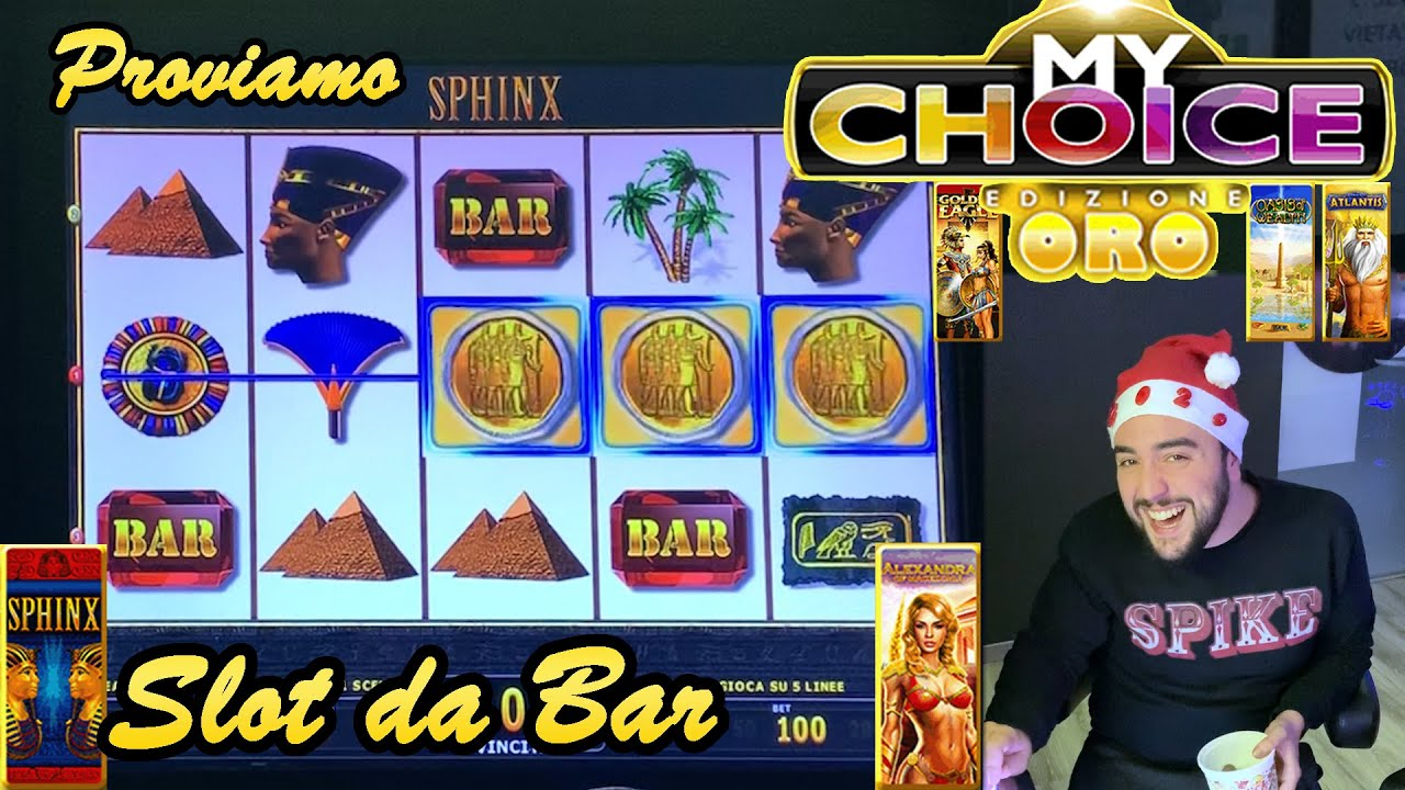 SLOT MACHINE da BAR - Proviamo la MY CHOICE ORO???????? (Multigioco Atronic con SPHINX e altro)