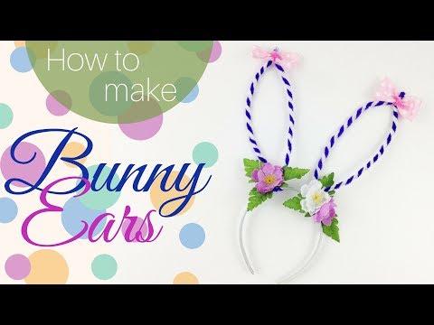 How To Make BUNNY EARS ♥ Wearable Headband DIY