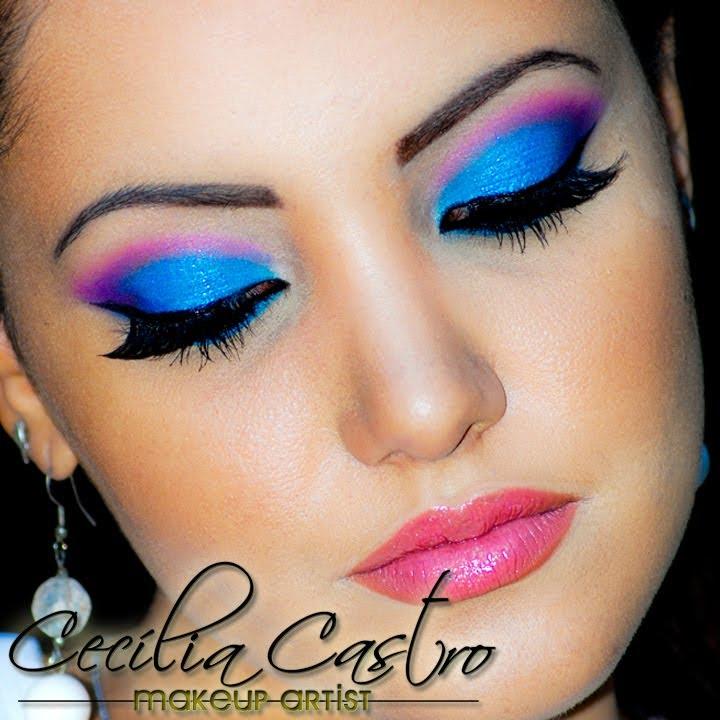 make colorida com glitter cecà lia castro makeup youtube