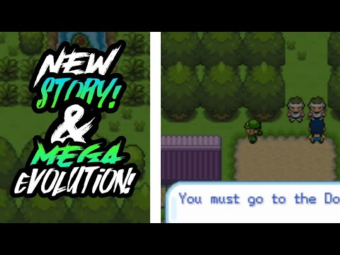 POKEMON GBA ROM HACK WITH MEGA EVOLUTION & NEW STORY!! BEST?? GAMEPLAY AND DOWNLOAD!!