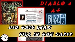 Latest Blizzcon 2019 Diablo 4 Leak Solves A Mystery From 2018