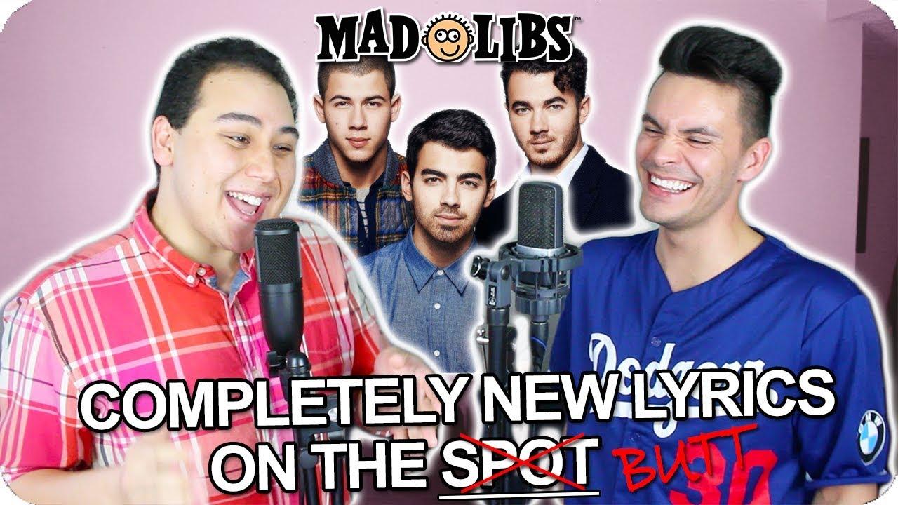 Jonas Brothers Sucker Madlibs Cover Live One Take