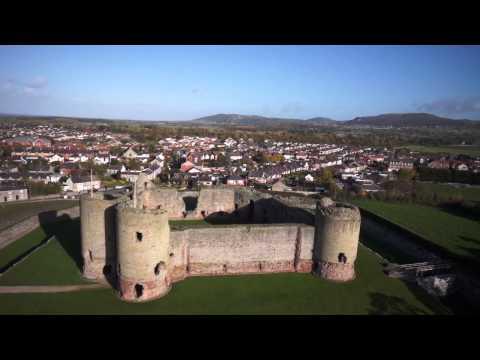 Rhuddlan Castle & Bodelwyddan Castle Aerial Film