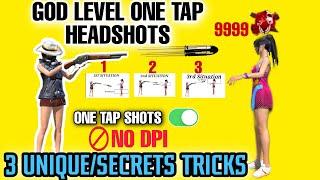 God Level One Tap 🚫No Dpi 3 Unique/Secrets Tricks✓ M1887 One Tap Headshots Without Skin