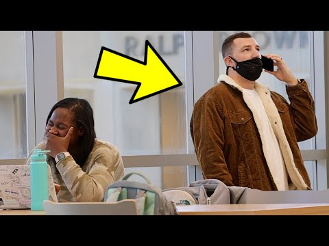 AWKWARD PHONE CALLS IN THE LIBRARY PRANK!!