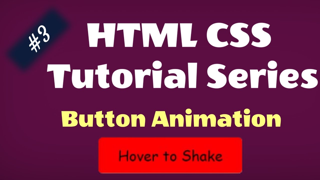 Learn CSS : Animate Button on Hover