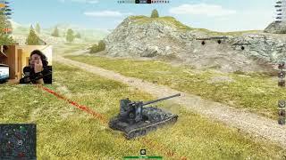WoT Blitz - Как потерять 9000 урона. Гриль 15 и кустовой Е75- World of Tanks Blitz (WoTB)