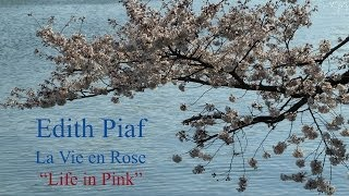 French Song - La Vie en Rose by Edith Piaf - Slow Reading