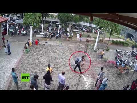 El autor de uno de los atentados en Sri Lanka fue grabado antes de explosión
