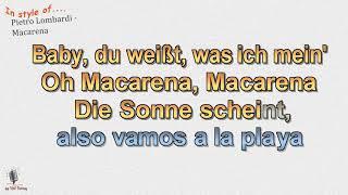 Pietro Lombardi -  Macarena - Instrumental und Karaoke by rolf rattay