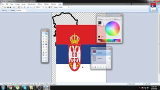 Drawing map of Serbia!