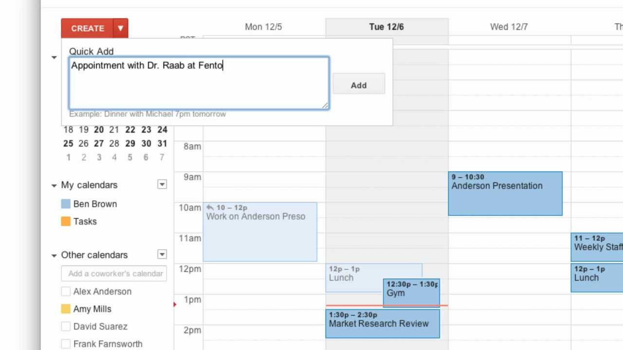 Creating Events In Google Calendar Youtube