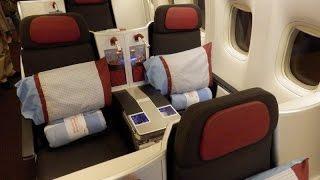 Austrian Airlines Boeing 777 business class Bangkok to Vienna (superb!)
