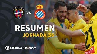 Resumen de Levante UD vs RCD Espanyol (2-2)