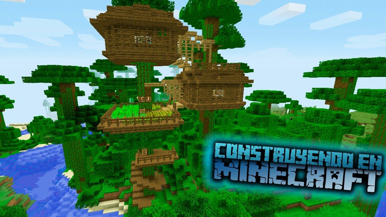 Como hacer una casa en la jungla para survival en for Como hacer muebles en minecraft