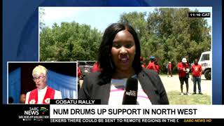 COSATU Rally   NUM drums up support in North West