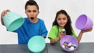 Don't Choose the Wrong Egg Glue Slime Challenge 2!